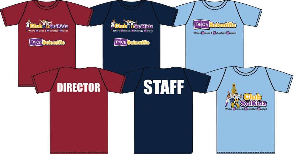 we also recommend imprinting the shirts for staff with staff director etc as seen in these examples from cherokee ymca summer camp and club - Company T Shirt Design Ideas