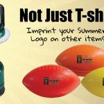 Examples of Logo-Imprinted Summer Camp Merchandise - Lantern and Footballs