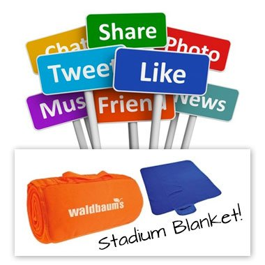 Corporate social media giveaway items