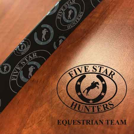 Custom Logo Embossed Leather Belts for Riding Teams